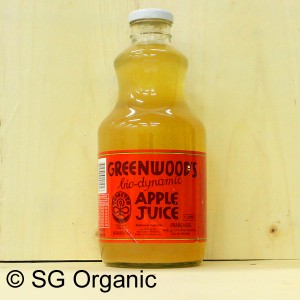 sg organic greenwood biodynamic apple juice