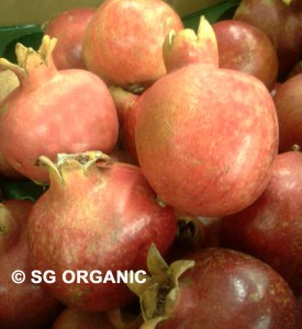 organic fruit, organic delivery, pomegranate